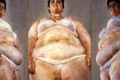 ©Jenny Saville, Strategy (South Face-Front Face-North Face), 1993-94